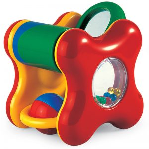 Multi-sensory infant play cube