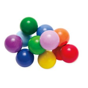 Large wooden colorful beads on elastic band