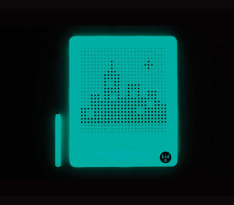 Open-ended glow-in-the-dark magnetic design board fosters creativity