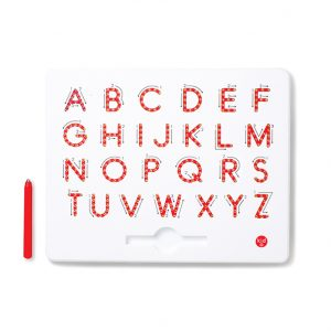 Magnetic upper case alphabet board