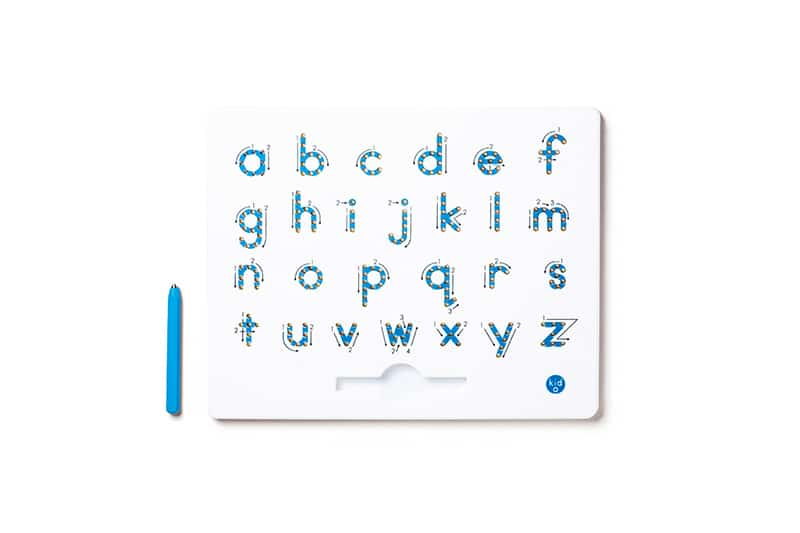 Magnetic lower case alphabet board
