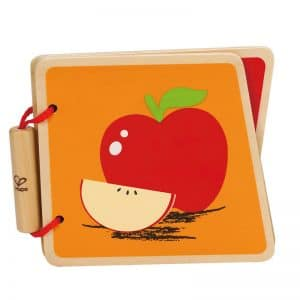 Wooden picture book about fruit