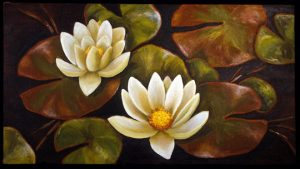 Heidi Floren oil painting of water lilies