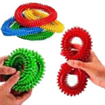 flexible,spiky rings for hand maninpulation