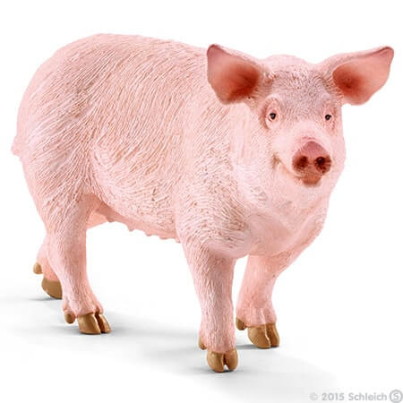 Toy pig for pretend play