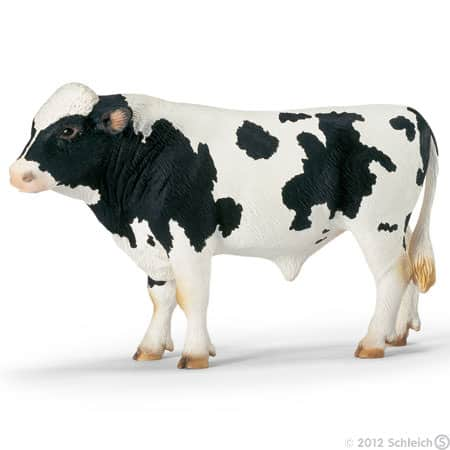 Toy Holstein bull for pretend play