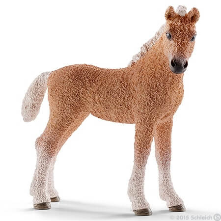 Toy Bashkir Curly foal for pretend play