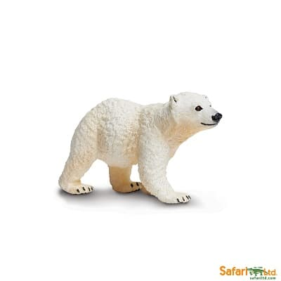 polar bear cub wild animal play figure