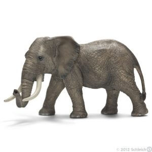 Toy African elephant male for pretend play