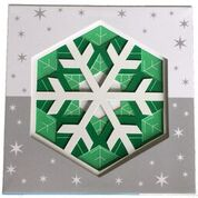 Snowflake designs for layering kaleidoscopic designs