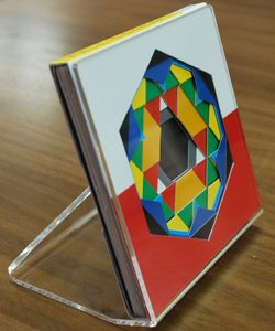 Acrylic frame for Kaleidographic designs