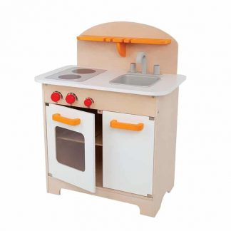 all-in-one compact kitchen for pretend play