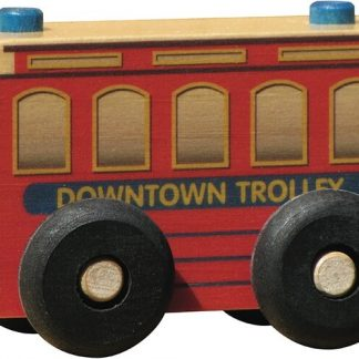 Small wooden trolley for imaginative play