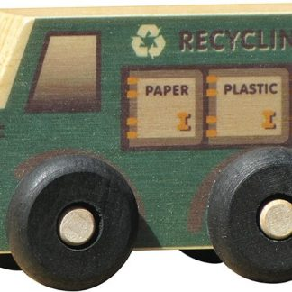 Small wooden recylcing truck for imaginative play