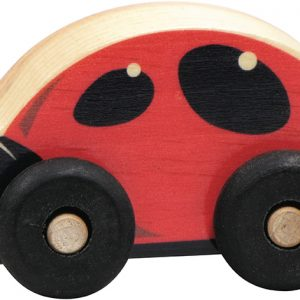 Small wooden ladybug car for imaginative play