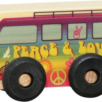 Small wooden peace van for imaginative play