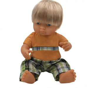 Anatomically correct Anglo boy doll