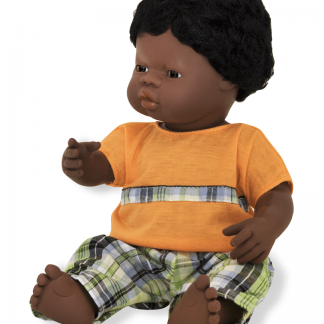 African boy doll trousers and t-shirt
