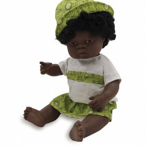 Anatomically correct African girl doll