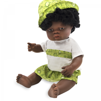 African girl doll dressed