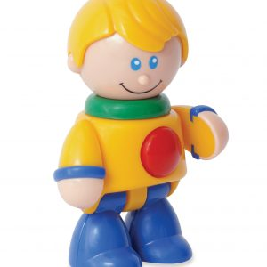 Caucasin boy articulated play figure