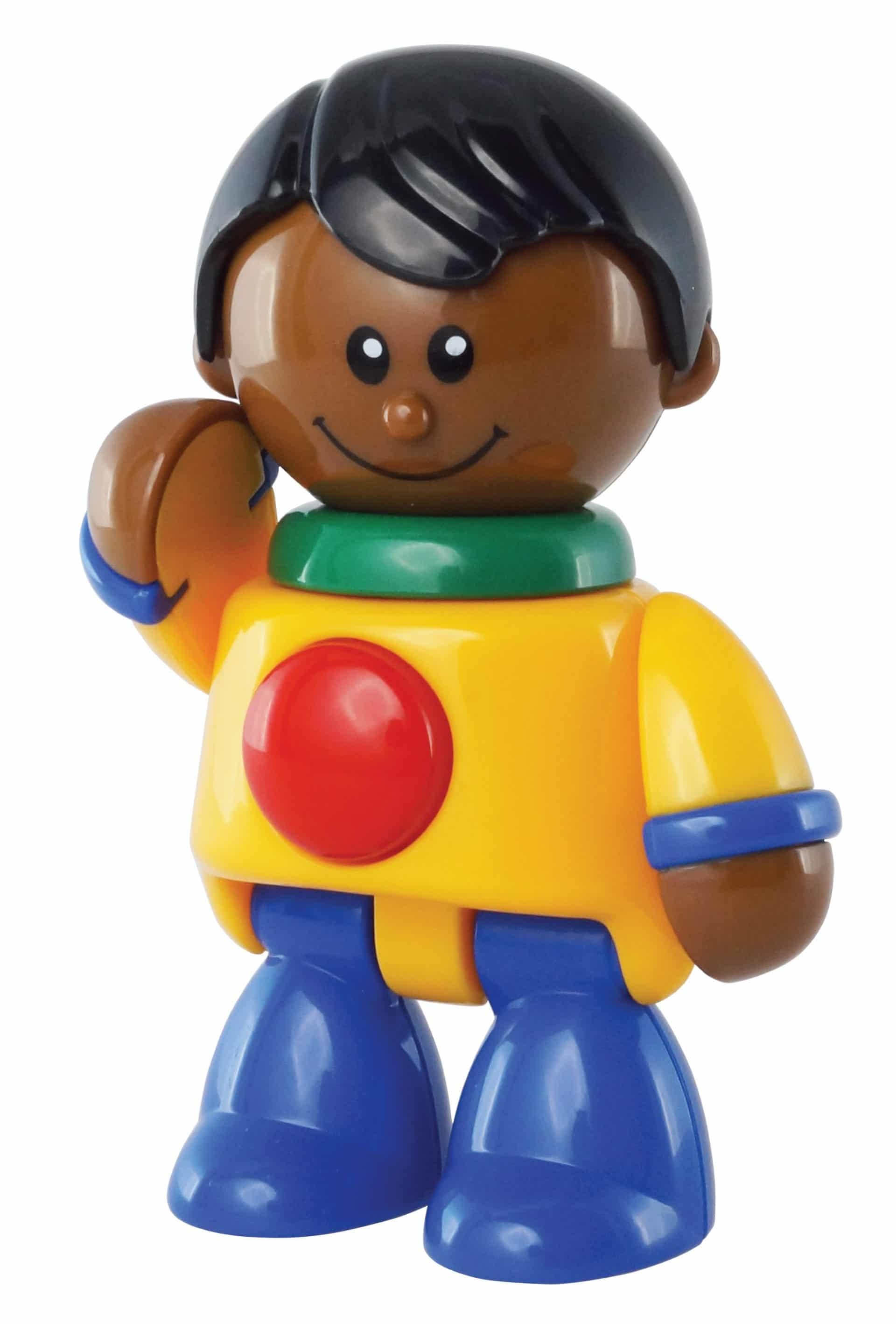 African American boy articulated play figure