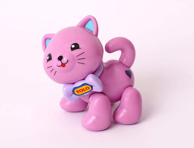 Purple kitten articulated play figure