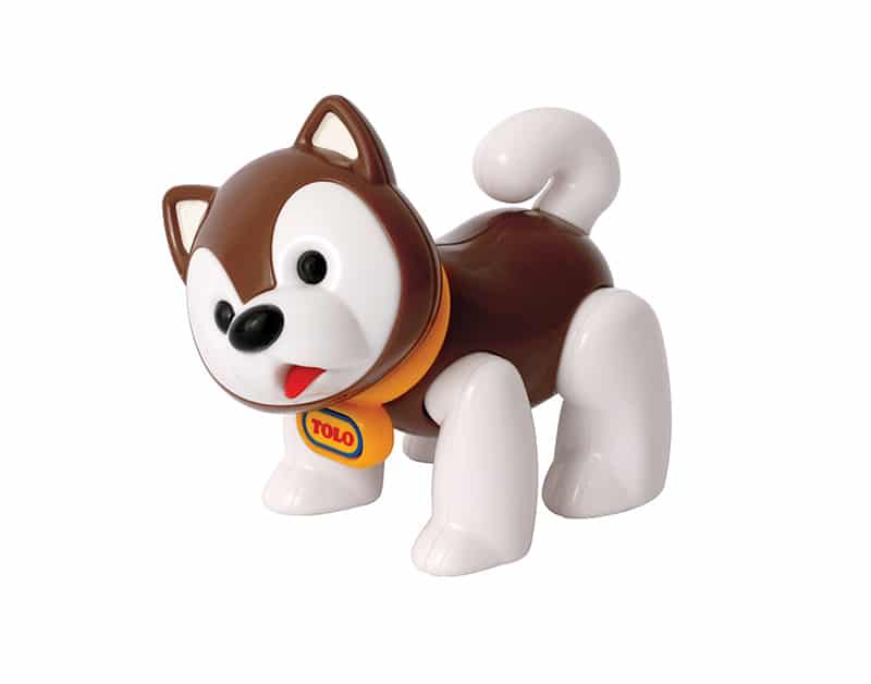 Husky puppy articulated play figure
