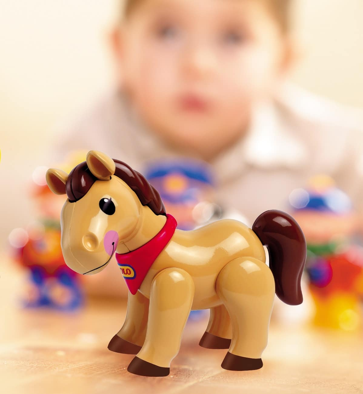 brown pony articulated play figure