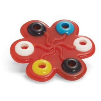 High contrast raised rings textured silicone teether