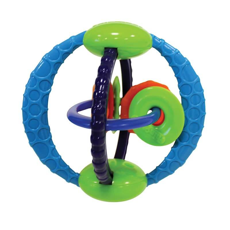 Soft flexible tactile bead chaser toy