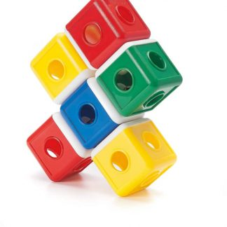 Colorful cubes jingle and connect