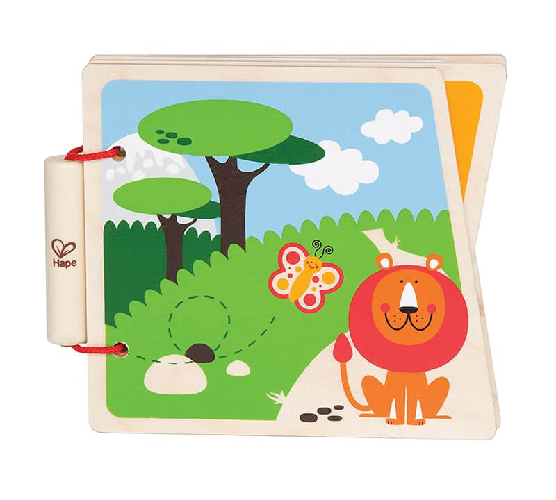 Wooden woodless picture book about the zoo