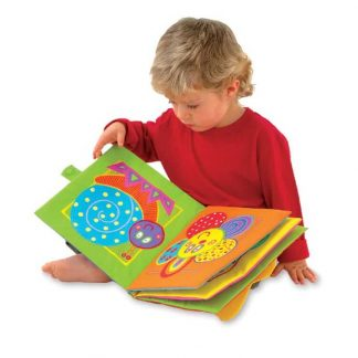 Sensory engaging giant cloth book