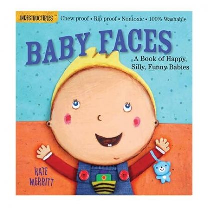 Rip-proof baby faces book