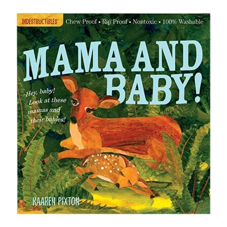 Rip-proof mama and baby animals book