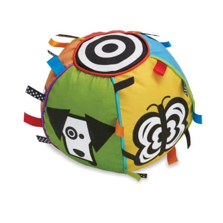 Fabric chime ball provides multi-sensory input