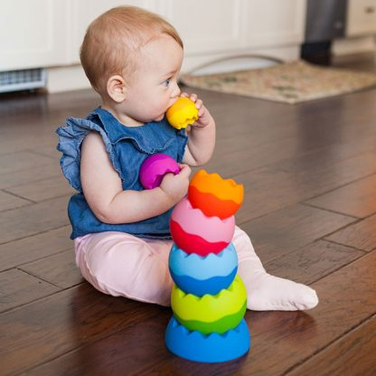 Tobbles Neo weighted tactile nesting and stacking toy
