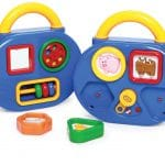 musical shape sorter and activity board