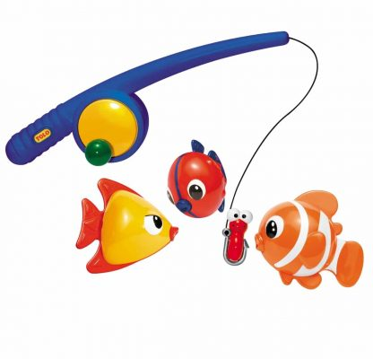 magnetic toy fishing pole and fishes