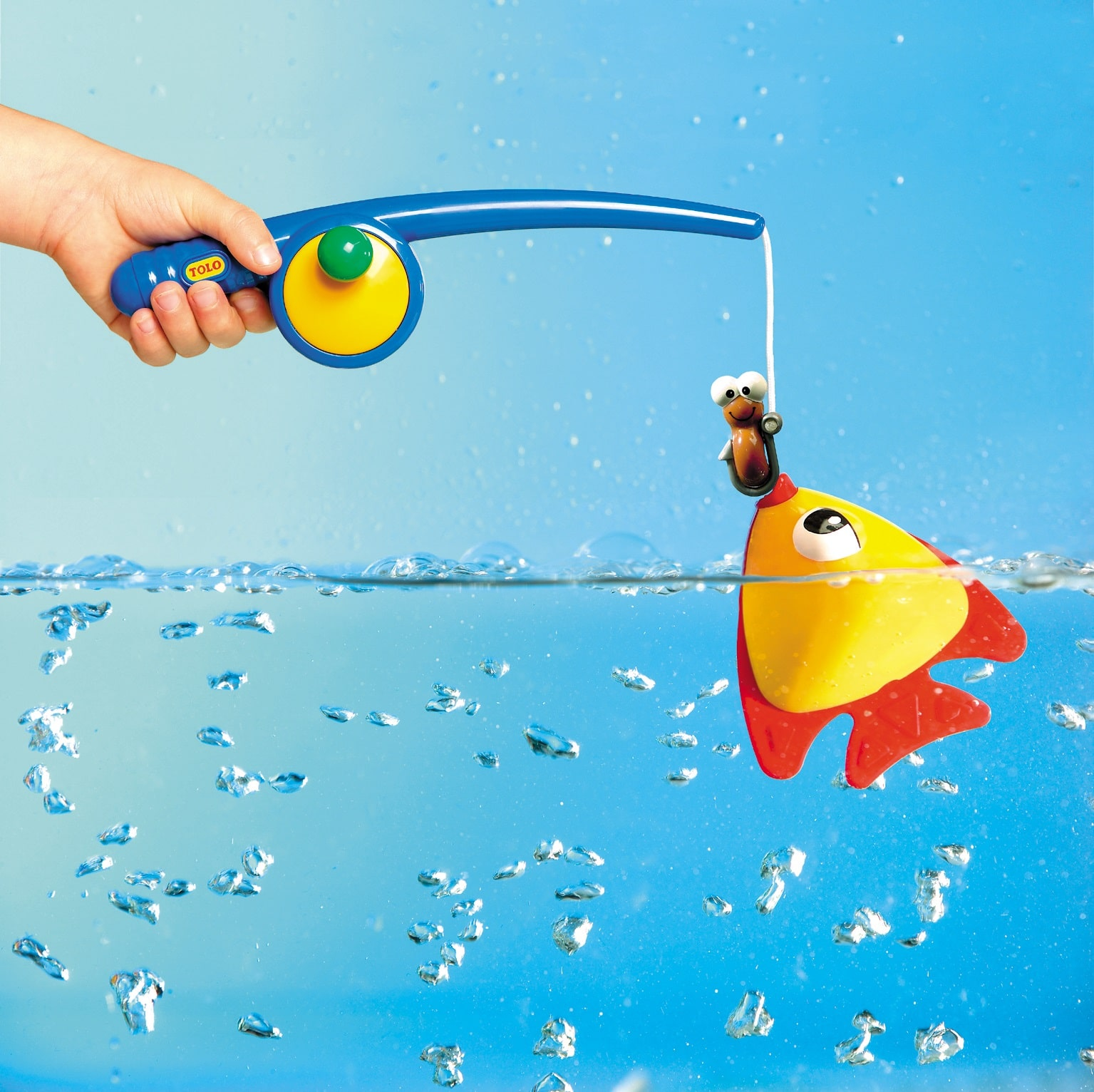 magnetic toy fishing pole and fish