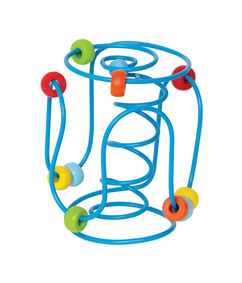 Hand-held wire bead maze promotes fine motor development