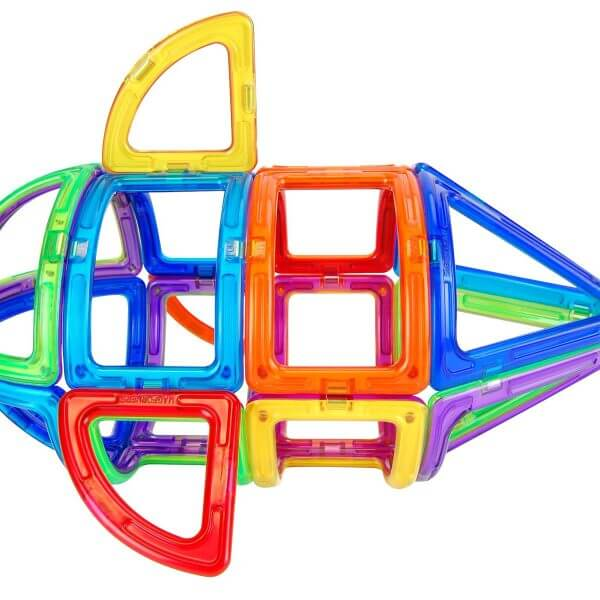Magnetic arched shapes building toy