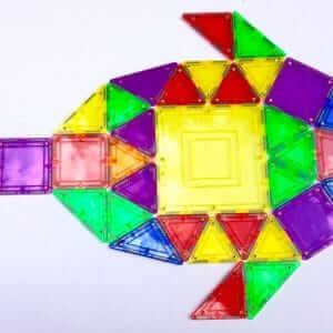 Translucent colors magnetic building tiles