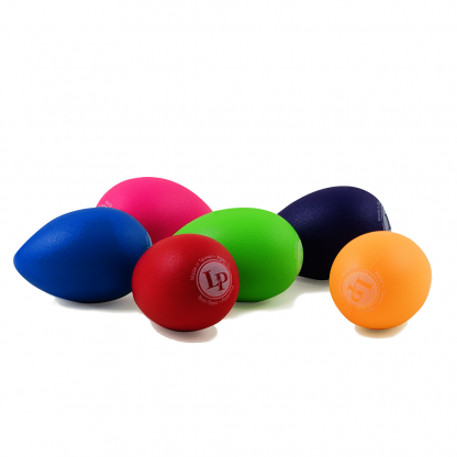 Plastic egg shakers in vivid colors