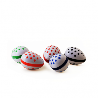 Easy, grip, raised dot egg shakers