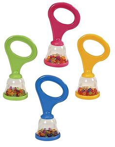 Bell-Shaped Rattle lightweight, easy-to-grip