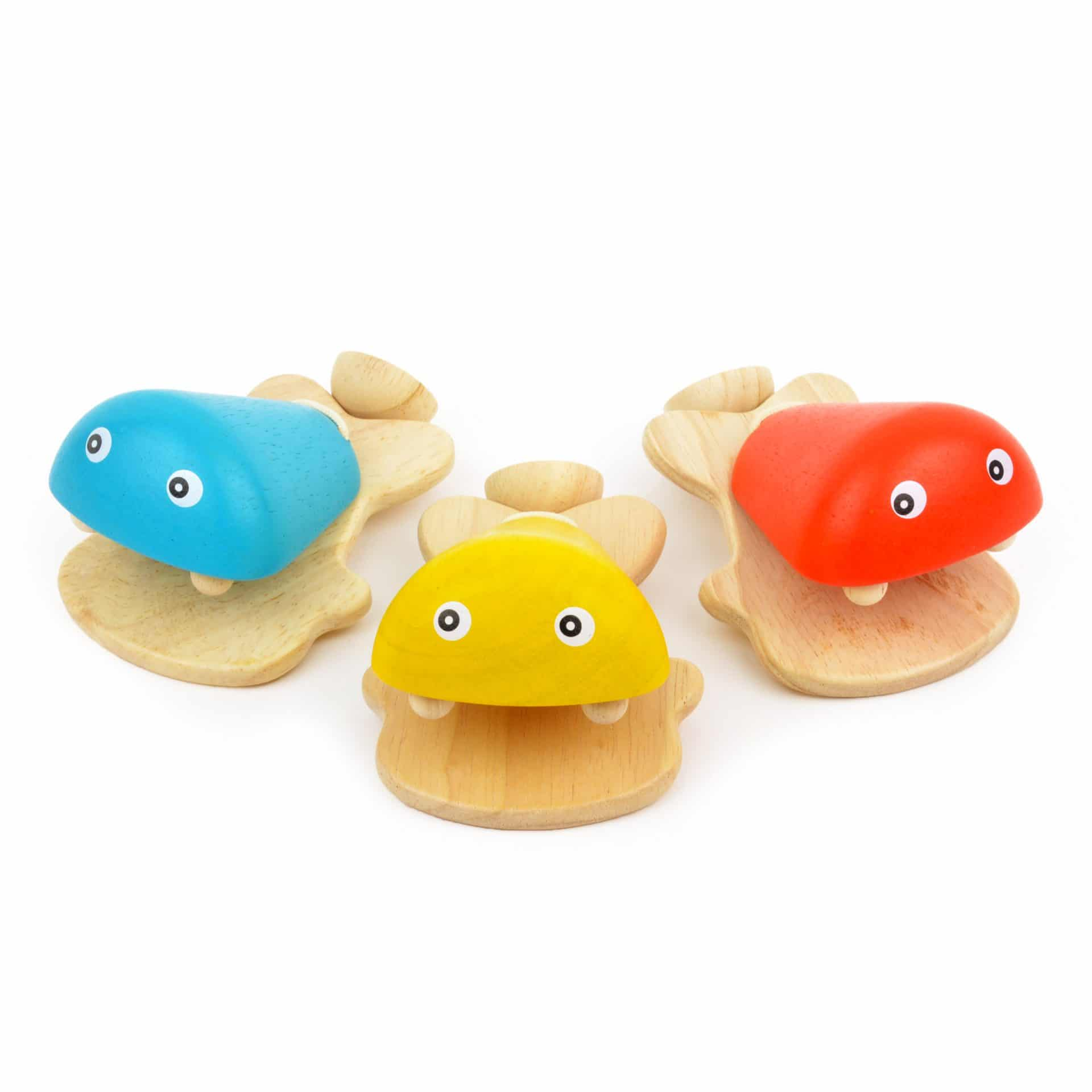 Wooden fish-shaped castanets