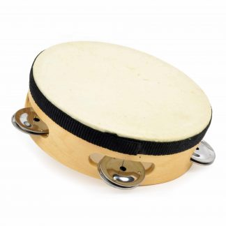 Wooden tambourine with drum head
