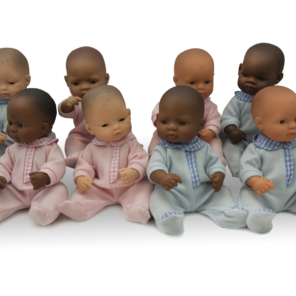 Anatomically correct newborn dolls in four ethnicities